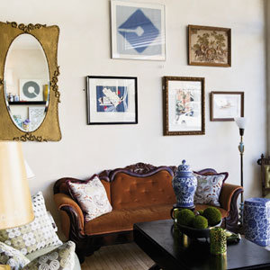 Everything inside Collected is for sale, from the Victorian couches to the art on the wall to pretty vases.