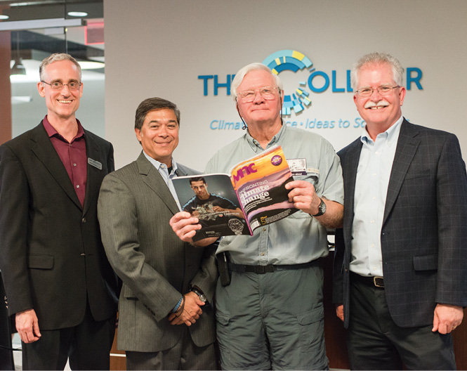 The Collider's CEO James McMahon, Mike Tanner of NOAA, Mack Pearsall of The Collider, and Jim Fox with NEMAC