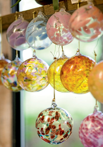 Glass ornaments by Rob Levin