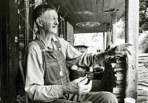 No matter what he was doing when a visitor arrived, Hicks would stop and tell a tale on the porch.