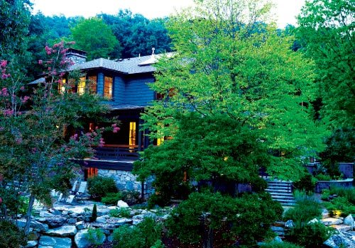 Paradise Found: Summer evenings are spent in the hillside oasis that is the backyard.