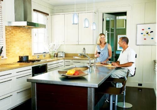Room to Grow:  The kitchen, formerly a cramped space, became the bright hub of the house.