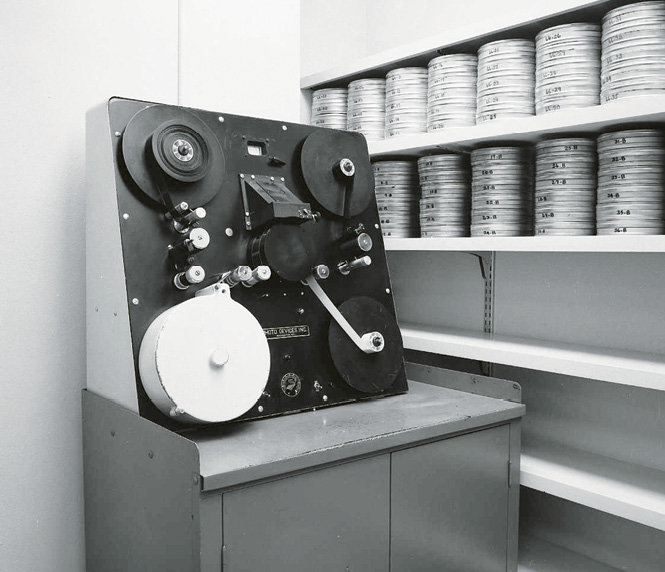 A tape duplication machine was used to copy records.