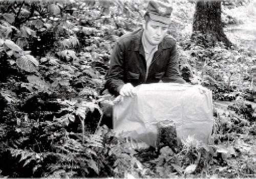 Great Smokies Park Ranger Joe Kelley at Meigs Post in Tennessee in July 1970. Photograph courtesy of Grateful steps, inc.