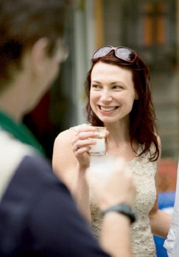 Megan Stokes enjoys an aperitif of anis-flavored arak.