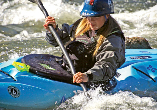 Many generations share the WNC waters—from one of the area's early female boaters, Bunny Johns, to top competitor Adriene Levknecht (shown).