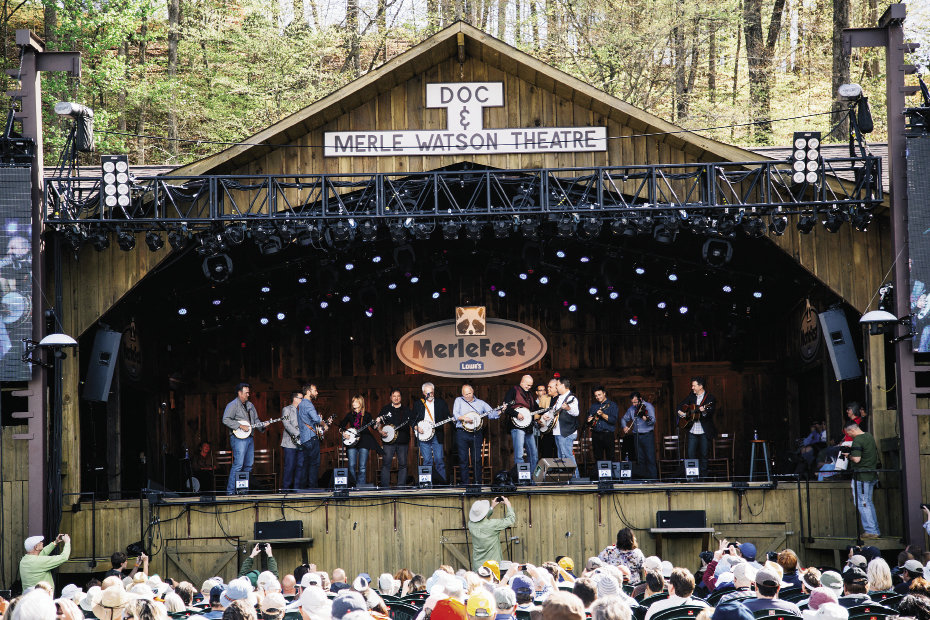 The 2014 MerleFest lineup included Banjo-Rama