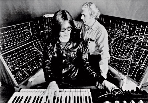 Bob (right) with Utopia keyboardist Roger Powell at Radio City Music Hall in 1974