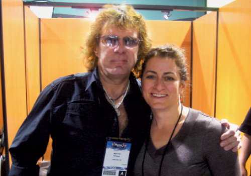 Michelle with Keith Emerson at NAMM in 2009