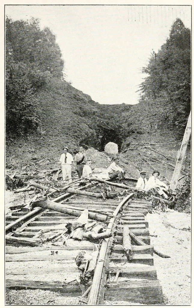 Hundreds of miles of Southern Railway track were torn apart by the flood waters and landslides.