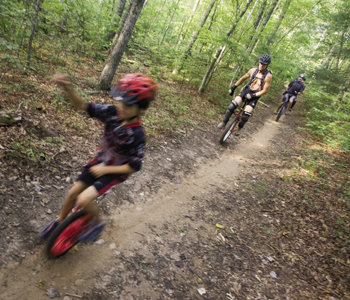 Western North Carolina, with its variety of trails, is a hot spot for mountain unicycling.