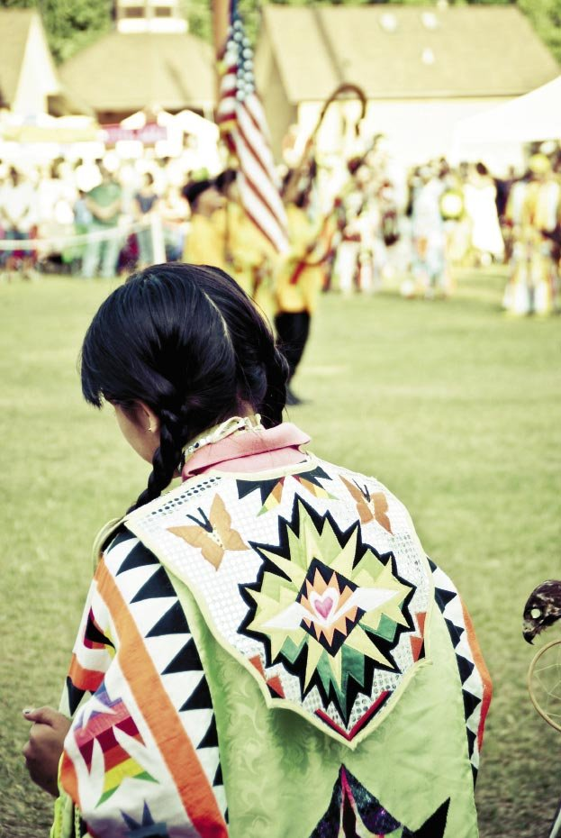 """Paying tribute The pow wow begins with a Veterans Dance led by former service members, or """"warriors,"""" in attendance. """"The reverence  for military service is palpable and touching,"""" Johnson says."""