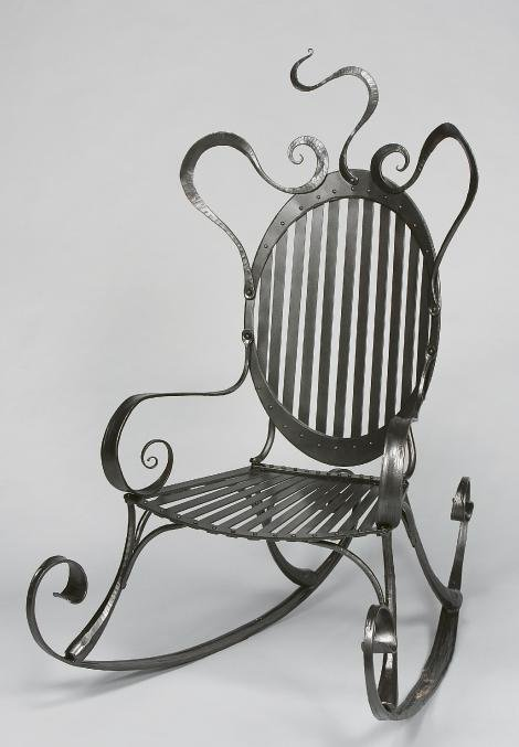 Susan Hutchinson, Weaverville, Rocking Chair, wrought iron