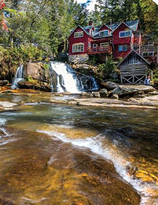 The waterfalls at Living Waters along NC 215