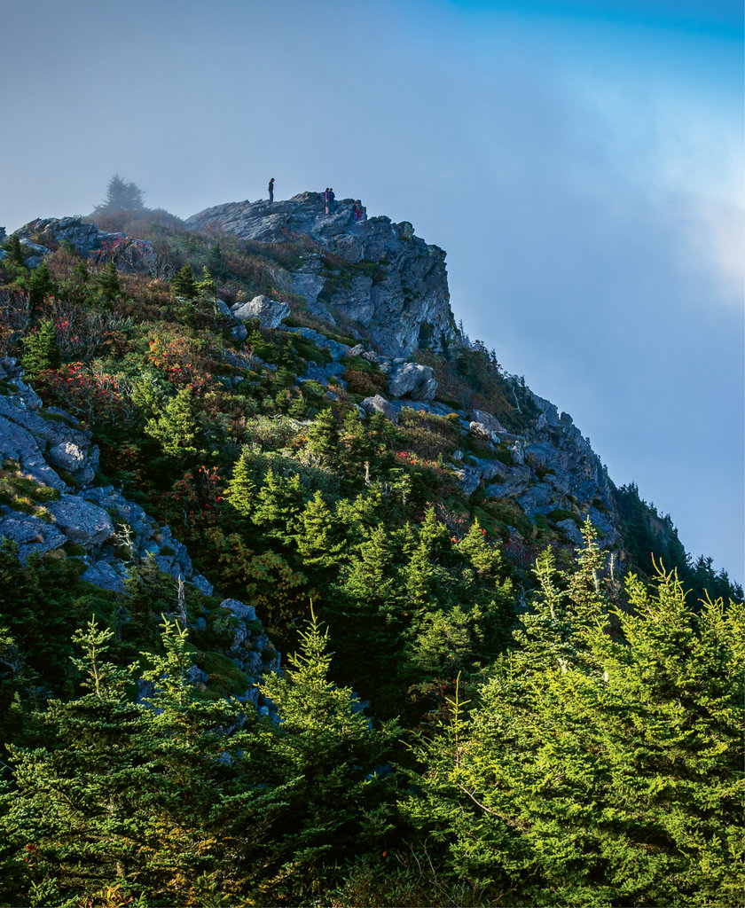 Grandfather Mountain rewards with miles of hiking trails and far-reaching views.