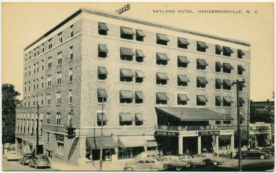 "In late 1935, Fitzgerald spent several lonely weeks at the Skyland Hotel (538 N. Main St., Hendersonville), where he wrote ""The Crack-Up."" The building has been converted into apartments, but visitors can sneak a peek at the lobby, which has retained the art deco details of the author's day."
