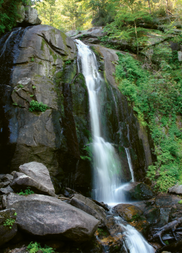South Mountain State Park is riddled with waterworks, including High Shoals Falls and the Jacob Fork River