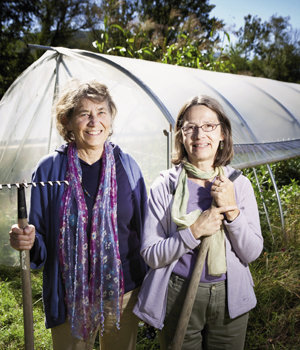 Winter Green founders Pat Hinkley and Joan Engelhardt are helping meet the demand for local food with crops grown in hoophouses.