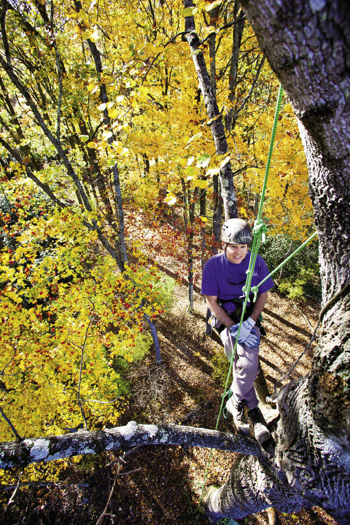 Wray is one of the few instructors in the Southeast to approach tree climbing from a recreational standpoint. His met