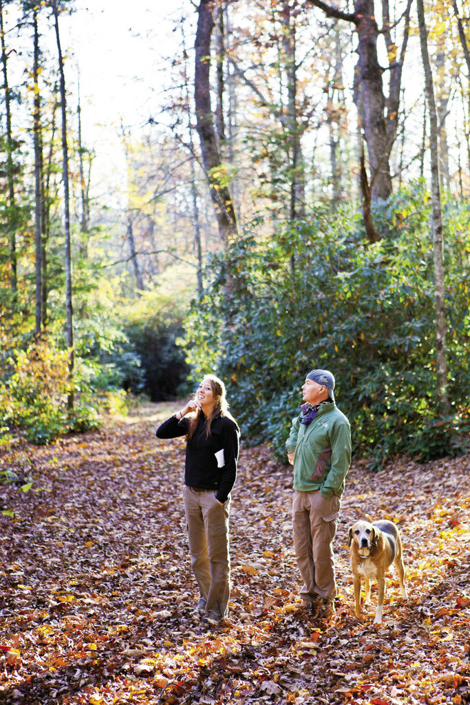Walking the trails on his 40-acre property, Wray points out the numerous hardwoods that he loves to climb. He shares his trees a