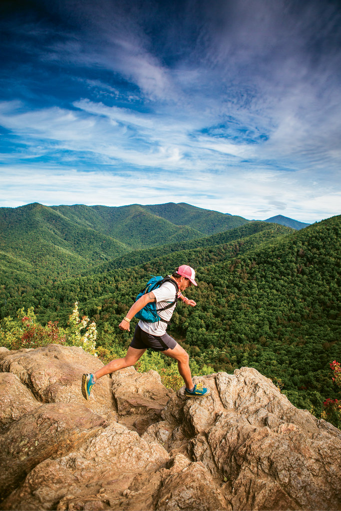 The trails around Montreat are some of Ripmaster's favorite places to train, and a far cry from the freezing terrain he tackled in his most recent race, the 1,000-mile Iditarod Trail Invitational in Alaska.