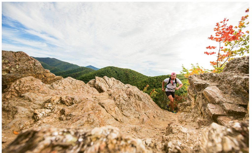 Fairview-based ultrarunner Peter Ripmaster on the trails on Lookout Mountain in Montreat